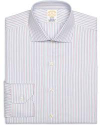 Brooks Brothers Regent Fit Alternating Stripe Dress Shirt - Lyst