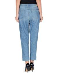 Paige Denim Trousers blue - Lyst
