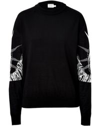 Fausto Puglisi Wool Silk Lady Liberty Pullover - Lyst