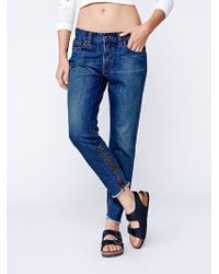 Free People Flynn Zipper Jean - Lyst