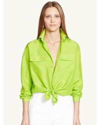Ralph Lauren Black Label Silk Benford Shirt - Lyst