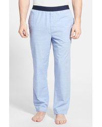 Calvin Klein Chambray Lounge Pants blue - Lyst