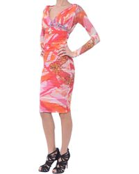 Versace Stretch-Dress - Lyst