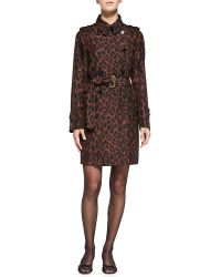 Marc Jacobs Leopard-print Silk Trenchcoat - Lyst