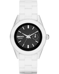 DKNY Womens Nolita White Ceramic Bracelet Watch 36mm - Lyst
