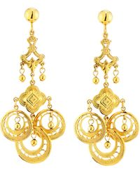 Jose & Maria Barrera Gypsy Chandelier Earrings gold - Lyst