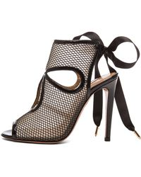 Aquazzura Sexy Thing Cutout Wedge Sandal - Lyst