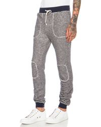 Band Of Outsiders Loop Stripe Cottonblend Sweatpant - Lyst