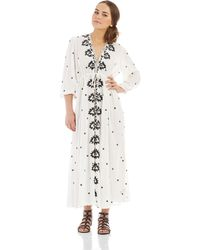 Free People Embroidered Maxi Dress - Lyst