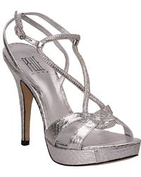 Pelle Moda Vino Silver Leather - Lyst