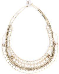 Ziio - Beaded Necklace - Lyst