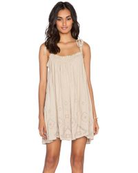 Free People Summer Sun Tunic brown - Lyst