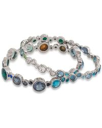 Carolee - Gems And Tonic Bubble Bangle Bracelet - Set Of 2 - Lyst