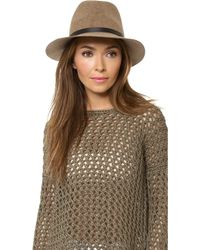 Rag & Bone Floppy Brim Fedora - Brown Multi - Lyst