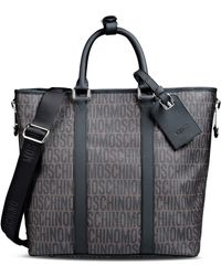 Moschino - Large Fabric Bag - Lyst