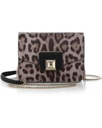 Furla Exclusively For Saks Fifth Avenue Angel Leopard-Print Mini Shoulder Bag - Lyst