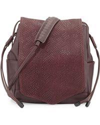 L.A.M.B. Edria Leather Bucket Bag - Lyst