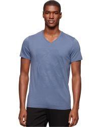 Calvin Klein Paint-Print T-Shirt blue - Lyst