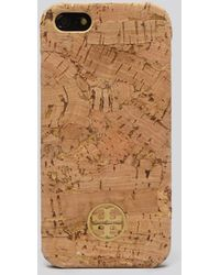 Tory Burch Iphone 55s Case Metallic Cork Hardshell - Lyst