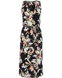 Oasis Shadow Butterfly Midi Dress - Lyst