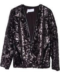 10 Crosby Derek Lam Leather-Trimmed Cropped Faux Fur Jacket - Lyst