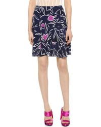 Nina Ricci Print Skirt - Marine - Lyst