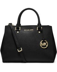 Michael Kors Sutton Medium Saffiano Leather Satchel - Lyst