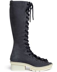 3.1 Phillip Lim 'Mallory' Open Lace-Up Sandal Boots - Lyst