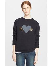 Rodarte 'Rohearte' Heart Graphic Sweatshirt - Lyst