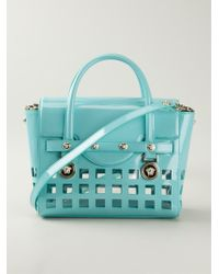 Versace Signature Perforated Tote - Lyst