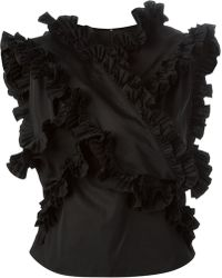 DSquared² Ruffle Detail Sleeveless Top - Lyst