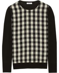 Equipment Roland Silkpaneled Wool Sweater - Lyst