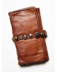 Free People - Campomaggi Womens Amaretto Wallet - Lyst