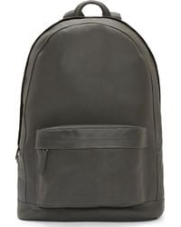 PB 0110 - Gray Matte Leather Backpack - Lyst