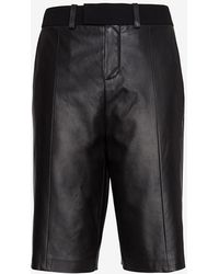 Iro Exclusive Leather Trouser Short - Lyst