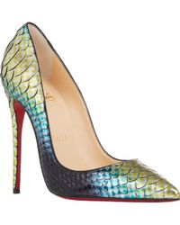 christian louboutin pointed-toe So Kate pumps Green and multicolor ...