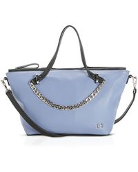 Halston Heritage Satchel - Small Two-Tone Chain Link - Lyst