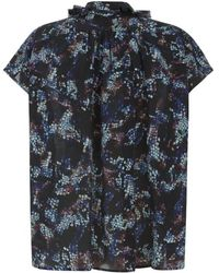 Saloni Gilda Silk Print Shirt - Lyst