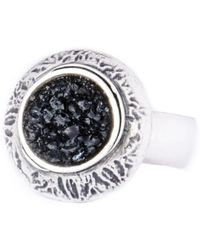 Becky Dockree Jewellery Large Silver Dome Ring - Lyst