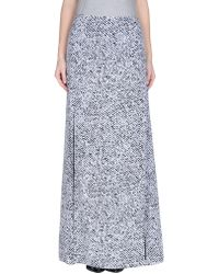 Richard Nicoll Black and White Crepe De Chine Maxi Skirt white - Lyst