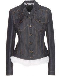 Burberry Prorsum Embellished Denim Jacket blue - Lyst