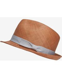 Hat Attack Short Brim Straw Fedora - Lyst
