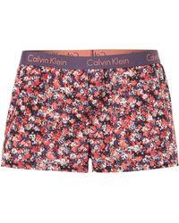 Calvin Klein Wovens Pretty Small Flowers Pj Boxer Short - Lyst