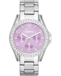 Fossil | Womens Riley Stainless Steel Bracelet Watch 38mm | Lyst