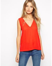 Asos Vest Top With Wrap Back - Lyst
