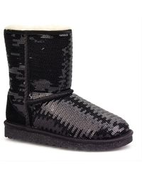 Ugg Classic Sequined Boots - Lyst