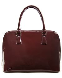 Forever 21 Faux Patent Leather Satchel - Lyst