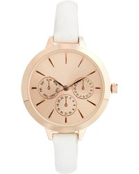 Asos Large Face Slim Strap Watch - Lyst
