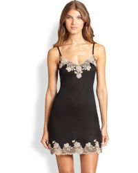 Josie Natori Charlize Lace Embroidered Chemise - Lyst