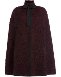 Alexander McQueen | Wool Jacquard Cape - Red | Lyst